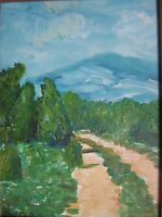 Terry George painting of a path in Southern France