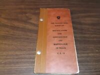 1952 PENNSYLVANIA RAILROAD PRR SPECIFICATIONS FOR CONSTRUCTION OF TRACK MANUAL
