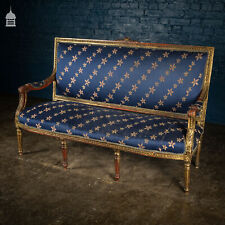 More details for 19th louis xvi gilt on gesso sofa
