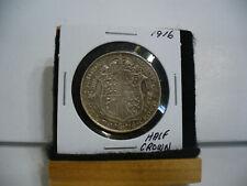 1916  Great Britain United Kingdom UK King GEORGE V Silver Half Crown Coin