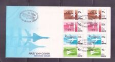 Singapore 1978  Aviation Series Special stamps ,gutter pair on FDC