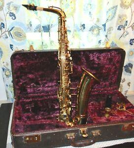 Vintage GEO M. BUNDY Saxophone PATENTED 1915 In Case EXCELLENT! Lot Dan