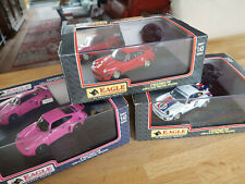UNIVERSAL HOBBIES EAGLE 3 X PORSCHE -RSR PINK STREET-934 RED AND 934 BRUMOS