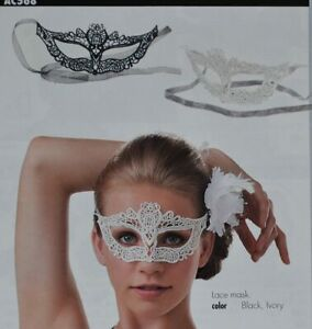 IVORY COLOR LACE MASK - DANCE COSTUME PARTY DRESS UP