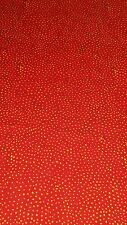 Quilting fabric -  Red with gold spots FQ