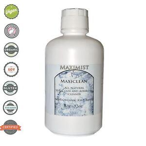 MaxiClean 100% Organic Spray Tan Gun Equipment Cleaner - 64 oz (2-32 oz)
