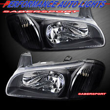 PAIR BRAND NEW BLACK HOUSING HEADLIGHTS FOR 2000-2001 NISSAN MAXIMA SE GXE GLE