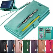 For Samsung S20 A20 A21s A41 A51 A71 Zipper Wallet Card Slot Leather Case Cover