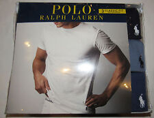 Polo Ralph Lauren pack of 3 classic fit cotton crew tee shirts NWT L blue