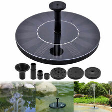 Solar Powered Floating Bird Bath Water Panel Fountain Pump Garden Pond Pool CHY