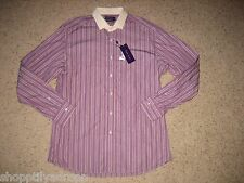 Ralph Lauren Purple Label Mens Tailored Fit Dress Shirt 17.5