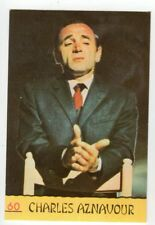 figurina CANTANTI PANINI 1968 REC numero 60 CHARLES AZNAVOUR