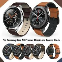 Leather Bands For Samsung Gear S3 Frontier & Classic and Galaxy Watch 46mm