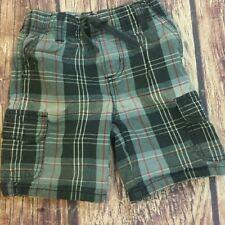 Gymboree plaid cargo pull-on drawstring shorts sz 3
