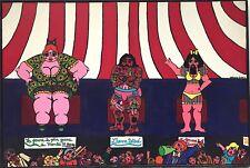 Catherine Folatre huile sur toile signée art naïf le cirque  spectacle Folâtre
