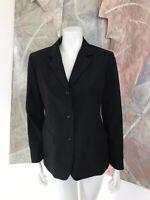 Brooks Brothers 346 Womens Wool Blend Black Three Button Blazer Jacket Size 4