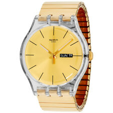 Swatch Originals Dazzling Light Gold Dial Stainless Steel Unisex Watch SUOK702A