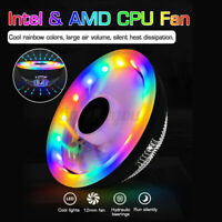 12V 12CM RGB PC Fan Silent Cooling Heat Sink for Computer Case CPU Cooler 3 Pin