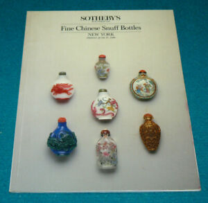 """SOTHEBY'S """"Fine Chinese Snuff Bottles"""" 1986 Auction CATALOG @ New York"""