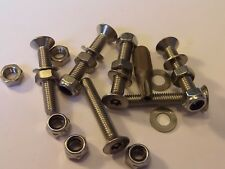 m5 X 30 STAINLESS STEEL COUNTERSINK SECURITY MACHINE SCREW + NUTS+BIT 6 PACK