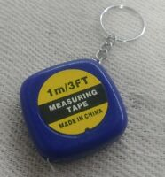 1m Mini Tape Measure Keyring 3ft Colourful Measuring Ruler Keychain