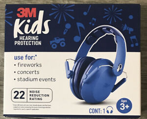 3M Kids Children Hearing Ear Protection ANSI  Headphones Quiet NEW Safety