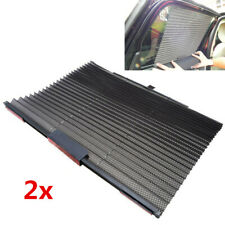 2x Universal Car Truck Black Side Window Sun Curtain Blind Sunshade Retractable