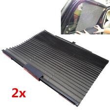 2x Universal Car Truck Black Side Window Sun Curtain Blind Sunshade Retractable