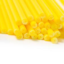 100 4.5 inch Yellow Plastic Lollipop Sticks (114 x 4mm)