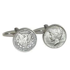 1 DOLLAR Cufflinks Gift Boxed USD Liberty Head american $ $one coin 1921 NEW
