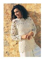 Vintage Crochet Pattern-Ladies Summer Top/Sweater-PATTERN ONLY-4-Ply ±009
