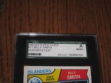 BILLY SMITH AUTOGRAPHED 1983-1984 O-PEE-CHEE CARD-SGC SLAB-ENCAPSULATED