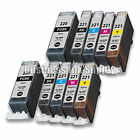 10 PACK PGI-220 CLI-221 Ink Tank for Canon Printer Pixma MX860 MX870 MP560