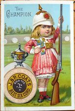 Victorian Trade Card: Little Girl as Officer/Armed Forces - J&P Coats' Thread