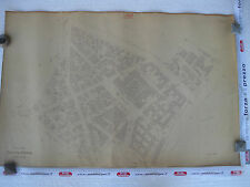 ROMA Mappa Catastale 549 Parioli Piazza Verdi Via Spontini Mercadante 1943 c.