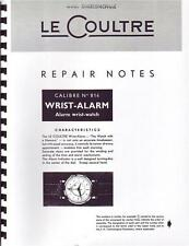 Jaeger Lecoultre Repair Manual For Vintage 814 Wrist Alarm For Auction