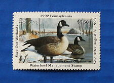 U.S. (PA10) 1992 Pennsylvania State Duck Stamp (MNH)
