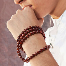 6mm Unisex Tibetan Buddhist 108 Wood Prayer Bead Mala Necklace Bracelet CC