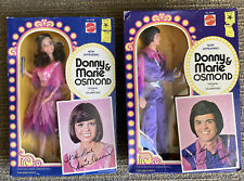 Vintage Donny And Marie Osmond Dolls Mattel 1976 New In Original Box Lot Pair