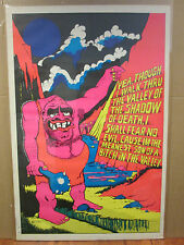Vintage Meanest Son of a B*tch in the Valley  Black Light Poster 1970's 2871