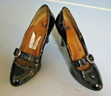 Sofft Black Patent Leather Mary Jane Buckle High Heel Pump US 8 B Comfort Womens