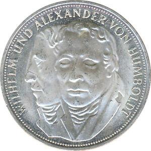 BRD 5 DM 1967 F Wilhelm und Alexander von Humboldt Silber*