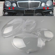 For Mercedes Benz W211 E-Class 02-08 Headlight Clear Lens Shell Cover L&R Set