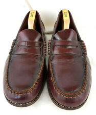 Retro Levi Slip on leather Loafer shoes UK 9EEE Wine coloured Heavy quality Good