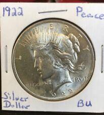 1922 Peace Silver Dollar BU