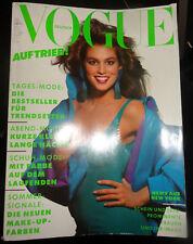 Vtg Vogue Deutsch 3/1988 Cindy Crawford Carole Bouquet Irwing Penn Jeanne Mareau
