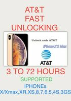 iPhone X/X MAX,XR,8,7,6,5,4,3gs✅At&t Usa✅EXPRESS FAST UNLOCKING✅Clean✅READ All✅