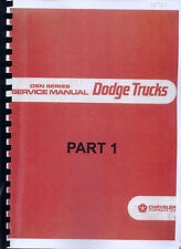 Dodge D5N 200, 300 , 400, 500, 600, 700, 700T, 1974 Workshop manual photocopy