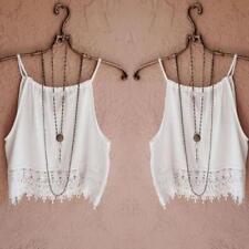 Women Halter Cotton Crop Tops Sleeveless Blouse Vest Tank Tops Tee T-Shirt LOT