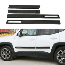 4pcs ABS Black Car Body Door Side Molding Cover Trim For 2015-2020 Jeep Renegade